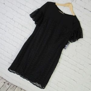 American Living Dress Womens 6 Black Lace